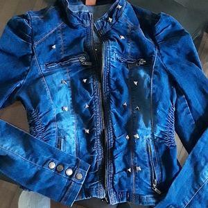 JouJou Jean Stud Embellished Jacket